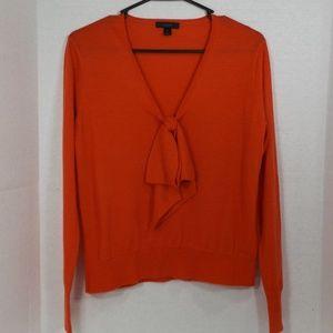 J Crew Orange 100% Merino Wool Ultra Soft Top S